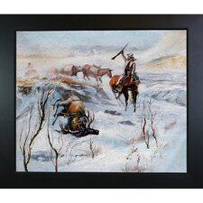 Christmas Dinner for the Men on the Trail by Russell Framed Original Painting