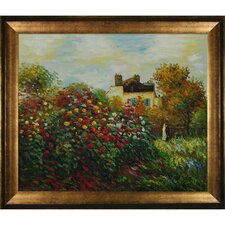 The Artist's Garden by Monet Framed Original Painting