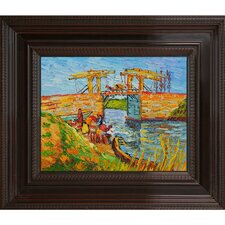 Langlois Bridge at Arles with Women Washing by Van Gogh Framed Original Painting