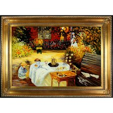 The Luncheon by Monet Framed Original Painting