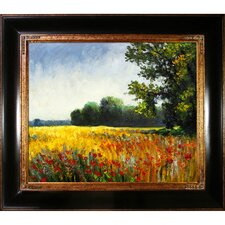 Oat Fields by Monet Framed Original Painting