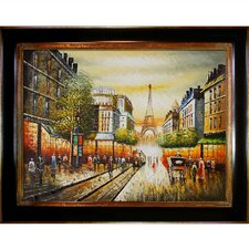 Buggy Ride Through Paris Framed Original Painting