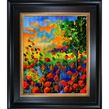 Ledent - Poppies 451150 Framed, High Quality Print on Canvas