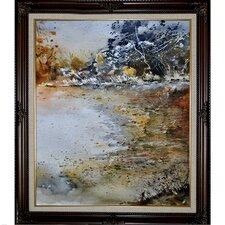 Ledent - Watercolor 114061 Framed, High Quality Print on Canvas