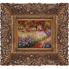Artist's Garden at Giverny Monet Framed Original Painting