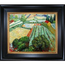 Field with Poppies Van Gogh Framed Original Painting