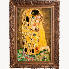 The Kiss (Full View) by Klimt Framed Hand Painted Oil on Canvas