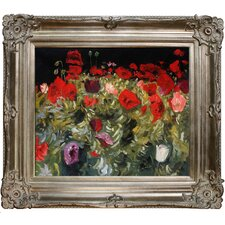 Poppies by Sargent Framed Hand Painted Oil on Canvas