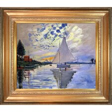 Sailboat at Le Petit-Gennevilliers by Claude Monet Framed Painting Print