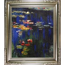 Water Lilies Green Reflection by Claude Monet Framed Painting Print
