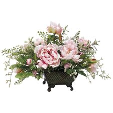 Peony/Berry/Fern in Metal Container