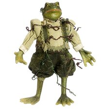 Princess Garden Whimsical Green Mr. Frog Decorative Figure with Vine Accents