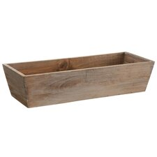 Country Rustic Natural Wood Storage Bin Container