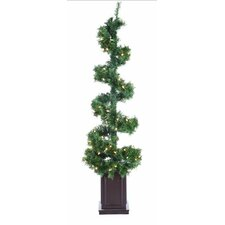 Helix Spiral Potted Artificial Topiary Tree