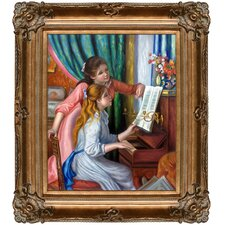 'Young Girls at the Piano' by Renoir Framed Painting Print on Canvas