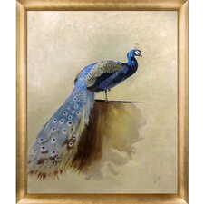 'Peacock' by Thorburn Framed Painting Print on Canvas