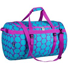 Big Dots Aqua Large Duffel
