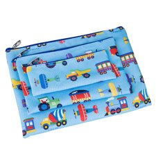Olive Kids Trains, Planes and Trucks 3 Piece Organizer Set