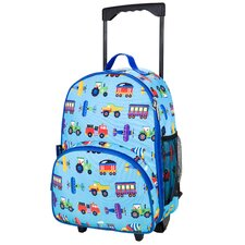 Olive Kids Trains, Planes and Trucks Rolling Backpack