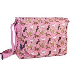 Horses in Pink Laptop Messenger Bag
