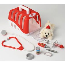 Vet Transport Crate with Dog