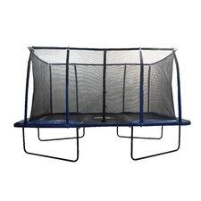 Spacious 14' Rectangular Trampoline & Fiber Flex Enclosure