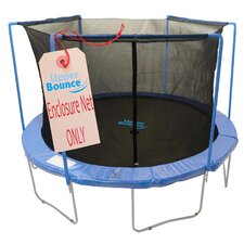 14' Trampoline Enclosure Safety Net Fits For 14 FT. Round Frames Using 3 Arches, with Sleeves on top (poles not included)