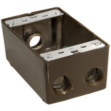 "4.5"" Weatherproof Boxes in Bronze with 0.5"" Outlet Holes (Set of 2)"