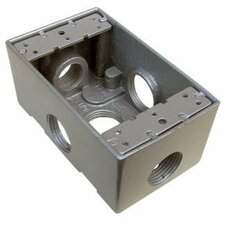 "4.5"" Weatherproof Boxes in Gray with 0.5"" Outlet Holes (Set of 2)"