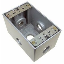 "2.63"" Weatherproof Boxes in Gray with 5 Outlet Holes"
