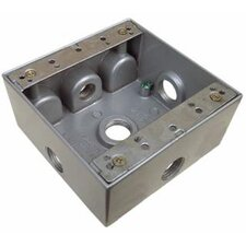 "2"" Weatherproof Boxes in Gray with 5 Outlet Holes"