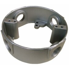 """4"""" Round Weatherproof Box Extensions in Gray with Four Holes"""