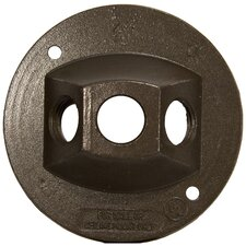 """4"""" Round Weatherproof Covers in Bronze with Three Hole (Set of 4)"""