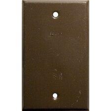 Vertical Blank One Gang Weatherproof Covers in Bronze (Set of 6)