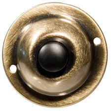Unlit Round Pushbuttons in Antique Brass