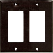 2 Gang Decorator / GFCI Lexan Wall Plates in Brown
