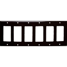6 Gang Decorator / GFCI Lexan Wall Plates in Brown (Set of 3)