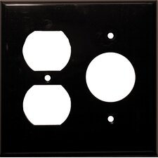 2 Gang 1 Duplex 1 Single Lexan Wall Plates in Brown (Set of 6)