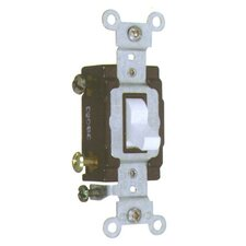 20A-120/277V Commercial Single Pole Toggle Switch in White (Set of 3)