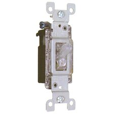 15A-120V Lighted Quiet Switch Single Pole (Set of 4)
