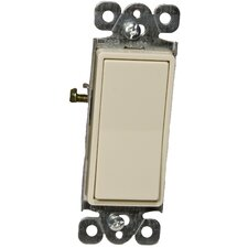 15A 120-277V Momentary Contact Garbage Disposal Decorator Switch in Ivory