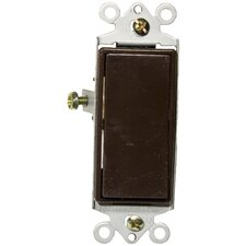 15A-120/277V Single Pole Decorator Switches in Brown (Set of 4)
