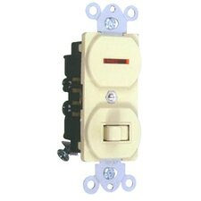 15A-120 Single Pole Switch and Pilot Light in Ivory (Set of 3)
