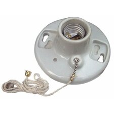 "Porcelain Receptacles Pull Chain 6"" Lead (Set of 2)"