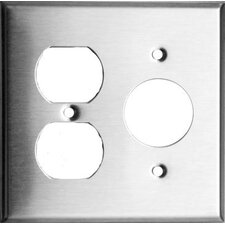 2 Gang 1 Duplex 1 Single Stainless Steel Metal Wall Plates (Set of 4)