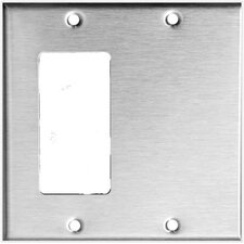 2 Gang 1 GFCI 1 Blank Stainless Steel Metal Wall Plates
