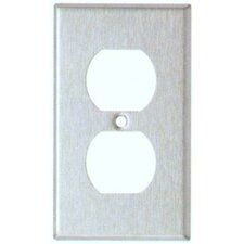 Midsize 1 Gang Duplex Receptacle Stainless Steel Metal Wall Plates