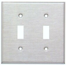 Stainless Steel Metal Wall Plates with 2 Gang