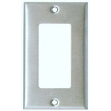 Oversize 1 Gang Decorator / GFCI Wall Plate in Stainless (Set of 3)