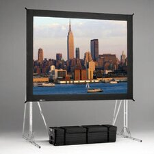 "Fast Fold Rear Da-Tex 330"" Diagonal Portable Projection Screen"